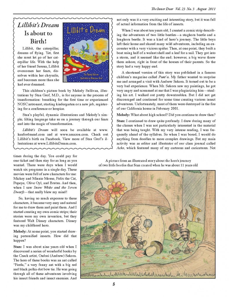 Stan Grof Returns to His Childhood Passion with Lillibit's Dream p. 2