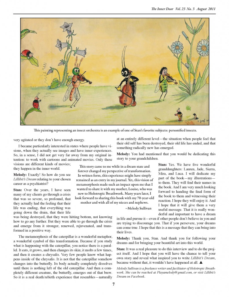 Stan Grof Returns to His Childhood Passion with Lillibit's Dream p. 4